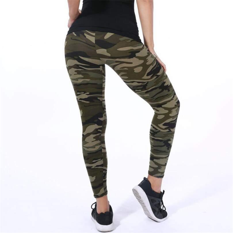 d770f51fd6c292 Women's Legging Elastic Skinny Camouflage leggings jegging pants ...