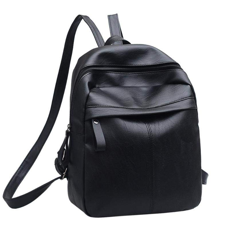 girls college office bag womens leather backpack casual stylish