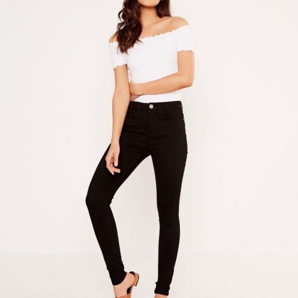 Levi's women Jeans Black Slim Fit Mid-Rise Stretchable