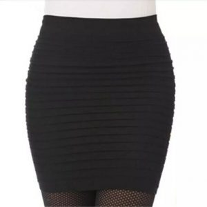 Pencil Short Skirt women knee length four way Lycra