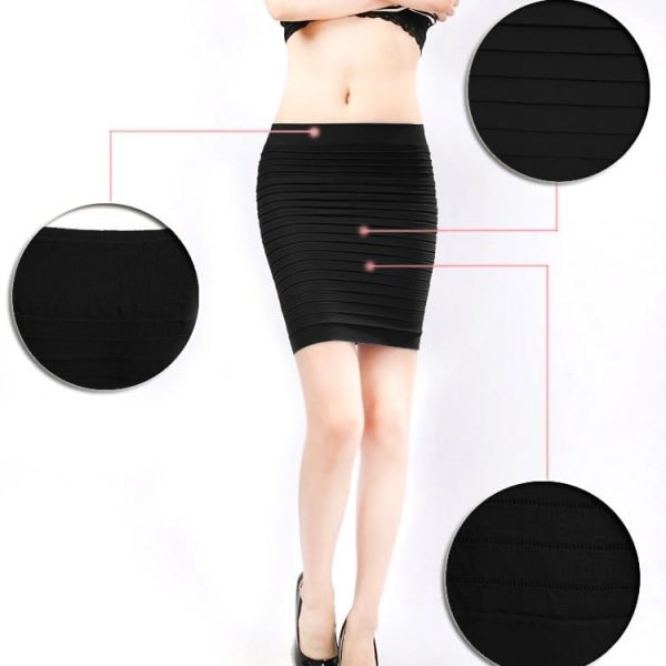 Pencil Short Skirt women knee length four way Lycra