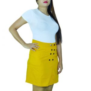 Soft cotton mini Skirt Women Straight fit stretchable