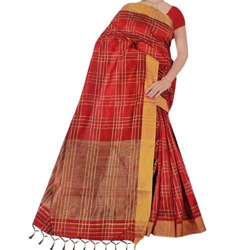 Classy multi Colored Casual Cotton Silk Saree