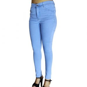 Women Jeans Blue Slim Fit Mid Rise Stretchable